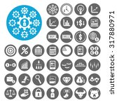stock exchange icons set.... | Shutterstock .eps vector #317880971