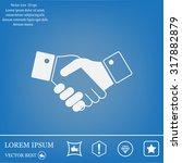 icon of handshake sign.   Shutterstock .eps vector #317882879