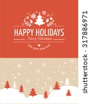 merry christmas background with ... | Shutterstock .eps vector #317886971