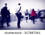 business people commuter... | Shutterstock . vector #317887361