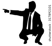 business man in a suit pointing ... | Shutterstock .eps vector #317892101