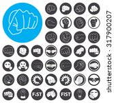 fist icons set. illustration... | Shutterstock .eps vector #317900207