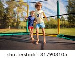 two sweet kids  brothers ... | Shutterstock . vector #317903105