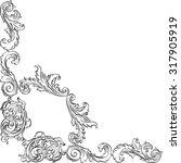 vintage foliant corner element... | Shutterstock .eps vector #317905919