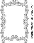 baroque retro ornate page is... | Shutterstock .eps vector #317909297