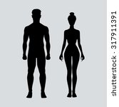 man and woman icon body figure... | Shutterstock . vector #317911391