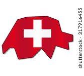 swiss flag | Shutterstock .eps vector #317916455