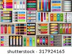 colorful modern text box... | Shutterstock .eps vector #317924165