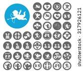 cupid icons set. illustration... | Shutterstock .eps vector #317926121