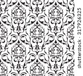 baroque seamless art pattern on ... | Shutterstock . vector #317926325