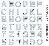 impossible font set  including... | Shutterstock .eps vector #317927039