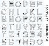 impossible font set  including... | Shutterstock .eps vector #317927039