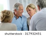 couple attending group therapy | Shutterstock . vector #317932451