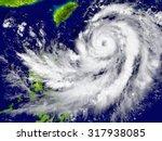 huge hurricane approaching... | Shutterstock . vector #317938085