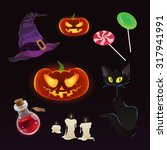 happy halloween set  witchcraft | Shutterstock .eps vector #317941991