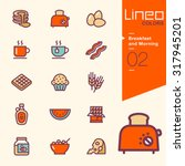lineo colors   breakfast and... | Shutterstock .eps vector #317945201