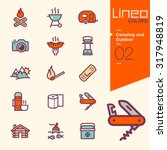 lineo colors   camping and... | Shutterstock .eps vector #317948819