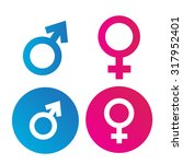 Male And Female Symbol Flat...
