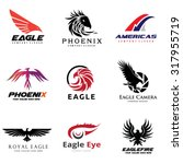 Eagle And Bird Logo Collection...