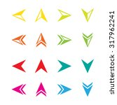 arrow sign icon set for website | Shutterstock .eps vector #317962241