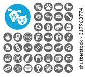 pets icons set. illustration... | Shutterstock .eps vector #317963774