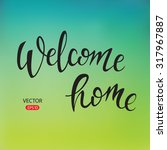 """welcome"" hand lettering ... 