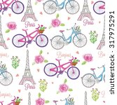 paris by bike  france  street... | Shutterstock .eps vector #317975291