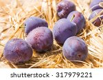 purple plum drops | Shutterstock . vector #317979221