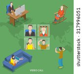 video call isometric flat... | Shutterstock . vector #317996051