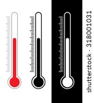 vector thermometer set in... | Shutterstock .eps vector #318001031