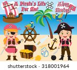 pirate girls | Shutterstock .eps vector #318001964