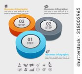 3d modern business circle... | Shutterstock .eps vector #318003965