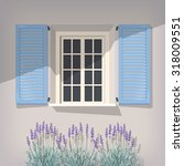 illustration of open window... | Shutterstock .eps vector #318009551
