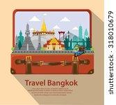 illustration. travel around...   Shutterstock .eps vector #318010679