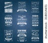 denim jeans white typography... | Shutterstock . vector #318014651