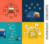 auto service design concept set ... | Shutterstock . vector #318016541