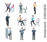 successful businessman peak...   Shutterstock . vector #318016835