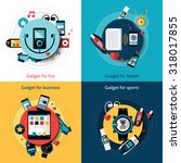 wearable technology set with... | Shutterstock . vector #318017855