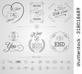 calligraphy design elements... | Shutterstock . vector #318018689