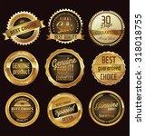 premium quality golden badges | Shutterstock .eps vector #318018755