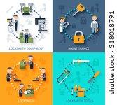 locksmith design concept with... | Shutterstock . vector #318018791