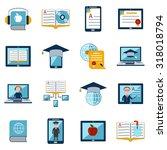 e learning internet education... | Shutterstock . vector #318018794
