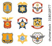 police badges law enforcement... | Shutterstock . vector #318018977