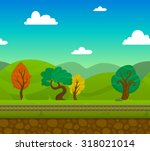 railway game 2d landscape with...   Shutterstock . vector #318021014