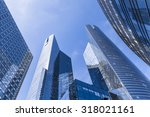 banks and office buildings in... | Shutterstock . vector #318021161