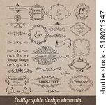 calligraphic design elements... | Shutterstock . vector #318021947