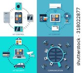 internet of things smart home 4 ... | Shutterstock . vector #318022877