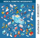 medical isometric infographics... | Shutterstock . vector #318023327