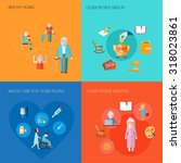 senior lifestyle design concept ... | Shutterstock . vector #318023861