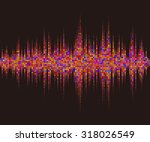 music square waveform... | Shutterstock .eps vector #318026549